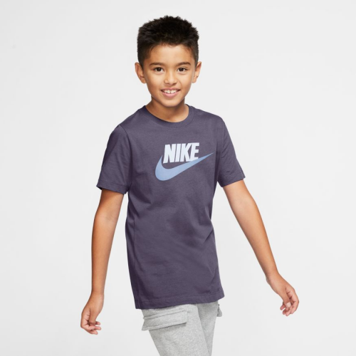 Nike Sportswear Big Kids' Cotton T-Shirt AR5252-573 DARK RAISIN