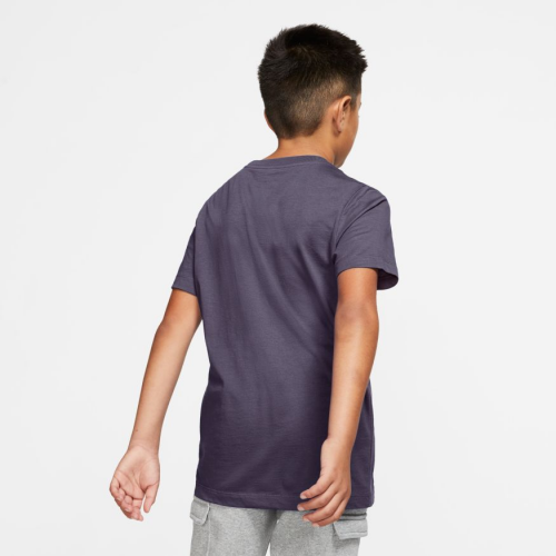 Nike Sportswear Big Kids' Cotton T-Shirt AR5252-573 DARK RAISIN