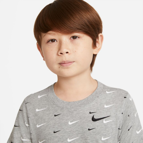 Nike Sportswear Big Kids' (Boys') T-Shirt DC7530-063 DR GREY HEATHER