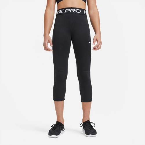 Nike Pro Big Kids' (Girls') Capri Leggings	DA1026-010 BLACK/WHITE