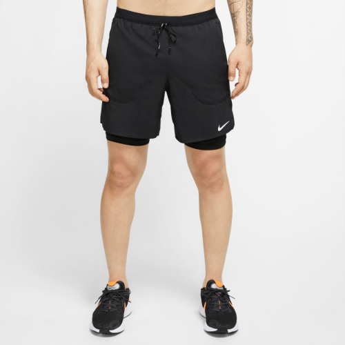 "Nike Flex Stride Men's 7"" 2-In-1 Running Shorts CJ5471-010 BLACK/BLACK"