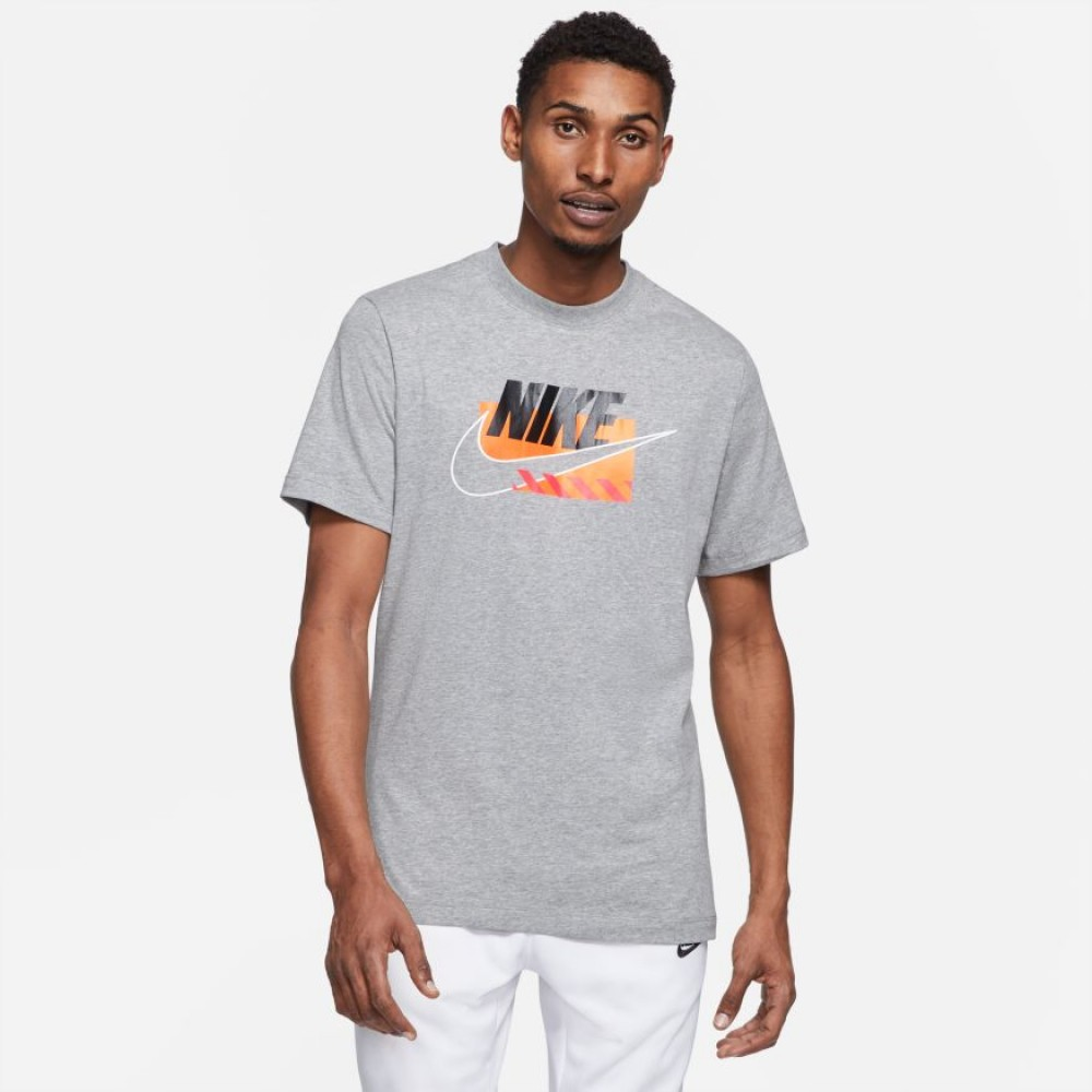 Nike Sportswear Men's T-Shirt 	DB6173-063  DARK GREY HEATHER/BLACK