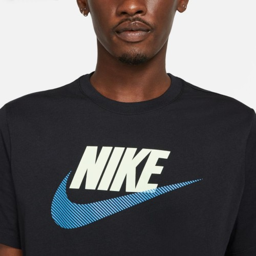 Nike Sportswear Men's T-Shirt DB6523-010 BLACK/PHOTO BLUE